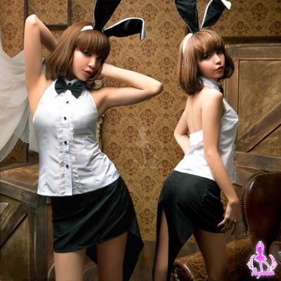 扰角色扮演女孩_sexy bunny!四件式兔女郎角色扮演服